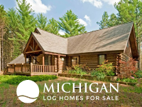 log cabins for sale MI